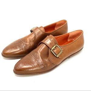 Joan & David Unique Leather Celtic Knot Shoes